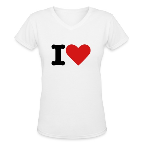 IHeart - Women's V-Neck T-Shirt