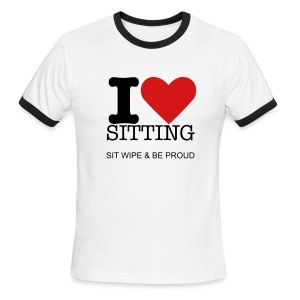 I Love Sitting - Men's Ringer T-Shirt