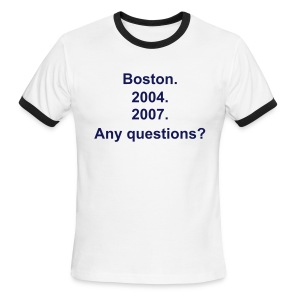 Any Questions T-Shirt - Men's Ringer T-Shirt