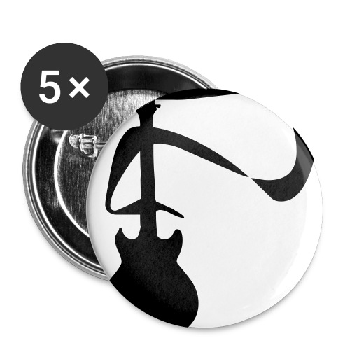 Guitar Button - Buttons small 1'' (5-pack)