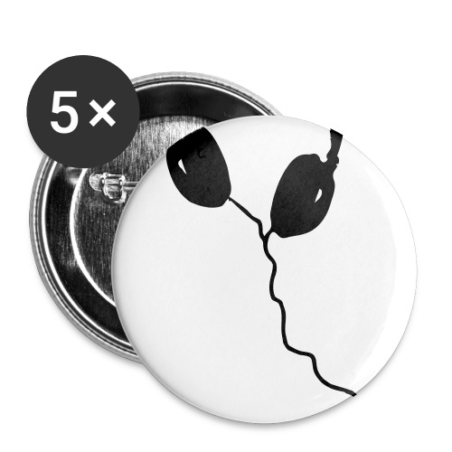 Headphones Button - Buttons large 2.2'' (5-pack)