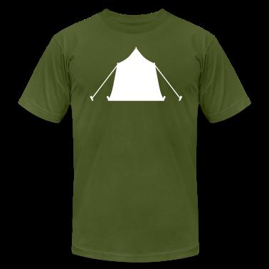 Olive camping tent symbol T-Shirts (Short sleeve)