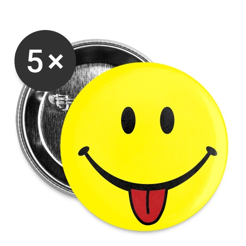 Smiley Face Button - Buttons small 1'' (5-pack)
