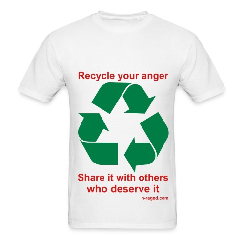 Recycle your anger (white) - Men's T-Shirt