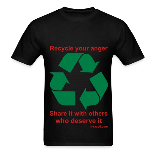 Recycle your anger (black) - Men's T-Shirt