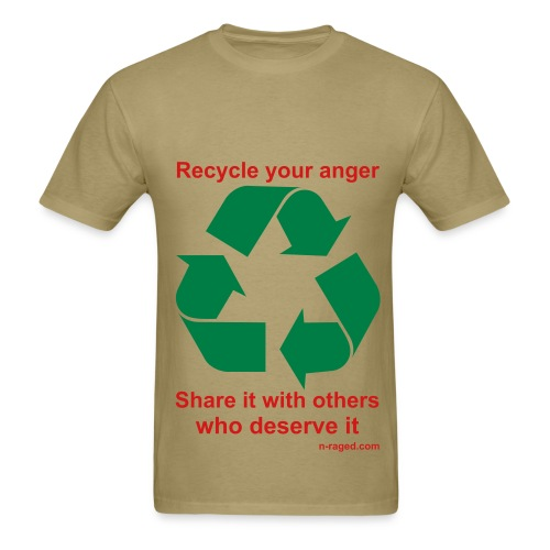 Recycle your anger (khaki) - Men's T-Shirt