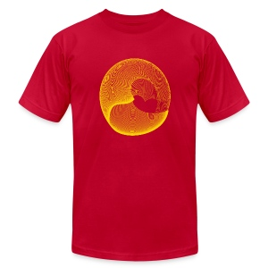 New Circle Line Art Designer T-shirt - Men's T-Shirt by American Apparel