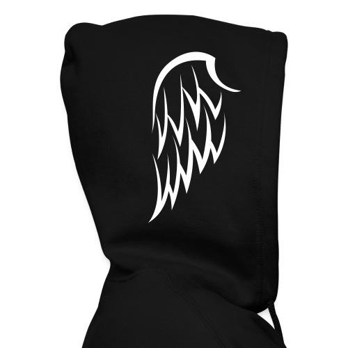 Men's Winged Hoodie- White Wings - Men's Zip Hoodie