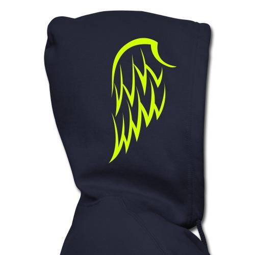 Men's Winged Hoodie- Neon Yellow Wings - Men's Zip Hoodie