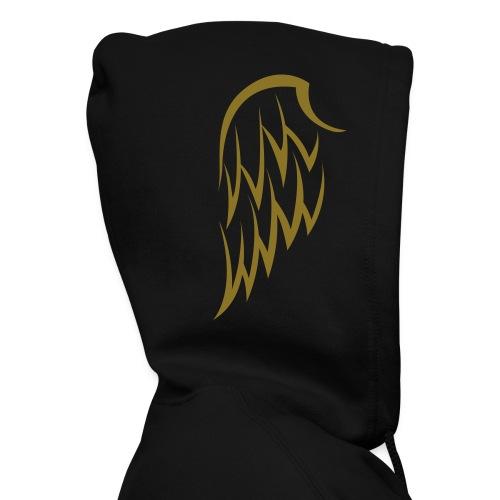 Men's Winged Hoodie- Gold Wings - Men's Zip Hoodie