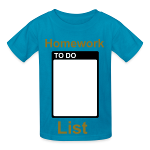 Homework to do list/back to school writeable  - Kids' T-Shirt