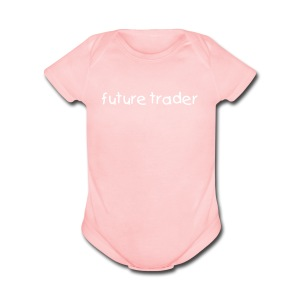 Future Trader (Girls) - Short Sleeve Baby Bodysuit