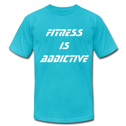 Fitness is Addictive - Men's Fine Jersey T-Shirt