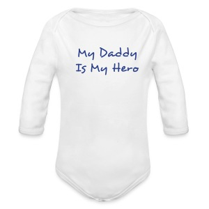 Hero One size Blue - Long Sleeve Baby Bodysuit