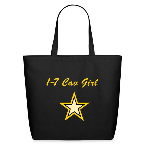 Black/Yellow Girl Star - Eco-Friendly Cotton Tote