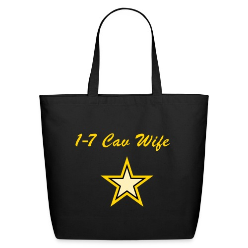 Black/Yellow Wife Star - Eco-Friendly Cotton Tote