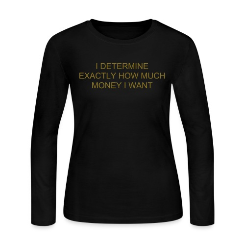 I DETERMINE EXACTLY HOW MUCH MONEY I WANT - Women's Long Sleeve Jersey T-Shirt