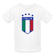 Kids' Shirts ~ Kids' T-Shirt ~ Kid's ITALIA SHIELD 4 STARS, White