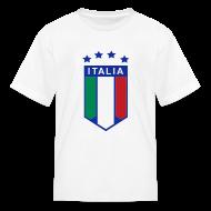 Kids' Shirts ~ Kids' T-Shirt ~ Kid's ITALIA SHIELD 4 STARS, White