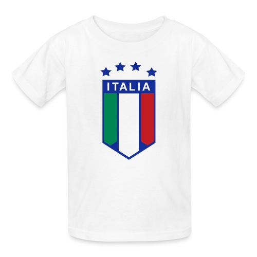 Kid's ITALIA SHIELD 4 STARS, White - Kids' T-Shirt
