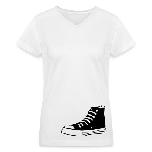 Old School - Women's V-Neck T-Shirt