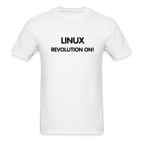 LINUX - REVOLUTION ON! - Men's T-Shirt