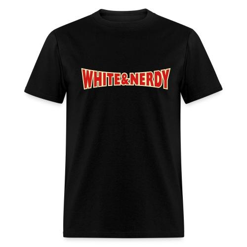 WHITE AND NERDY T-Shirt - Men's T-Shirt