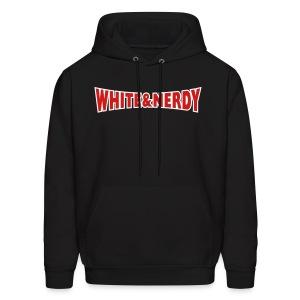 WHITE AND NERDY HOODIE - Men's Hoodie