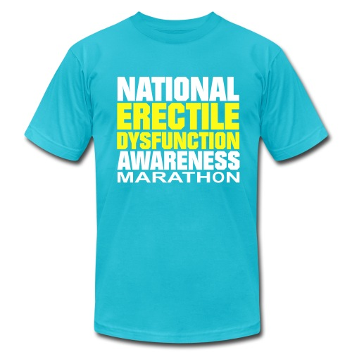NATIONAL ERECTILE DYSFUNCTION AWARENESS Marathon - Men's Fine Jersey T-Shirt