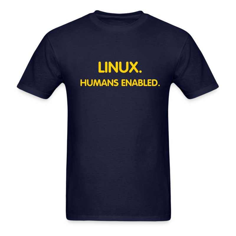 LINUX - Humans Enabled - Men's T-Shirt