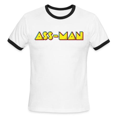 Ass-Man (Men) - Men's Ringer T-Shirt
