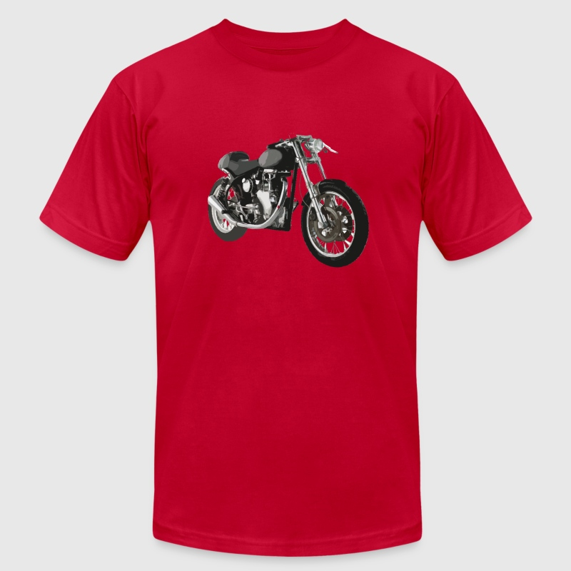 Red cafe racer bike t-shirt design T-Shirts (Short sleeve) - Men's T-Shirt by American Apparel