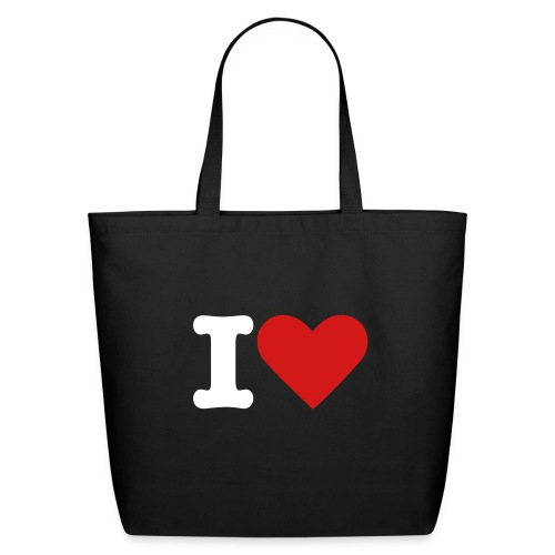 I LOVE All-Purpose Tote - Eco-Friendly Cotton Tote