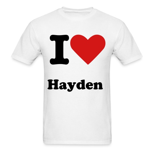 I Heart Hayden [Male] - Men's T-Shirt