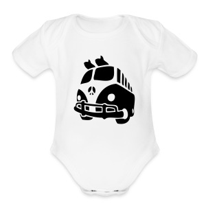 surf van short sleeve baby one size - Short Sleeve Baby Bodysuit