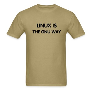 LINUX IS THE GNU WAY - Men's T-Shirt