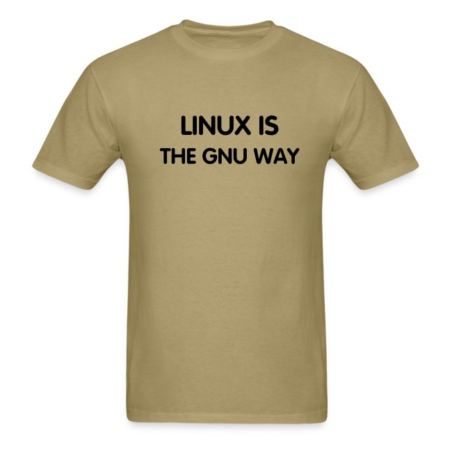 LINUX IS THE GNU WAY