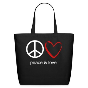 peace & love tote - Eco-Friendly Cotton Tote