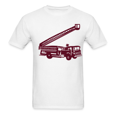 White Fire Department - Fire Engine - Firefighter T-Shirts (Short sleeve)