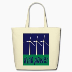 Creme Wind Power With Wind Turbines Bags