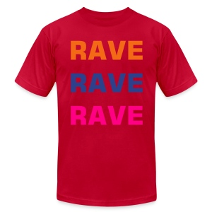 Guys Rave X3 - Men's T-Shirt by American Apparel