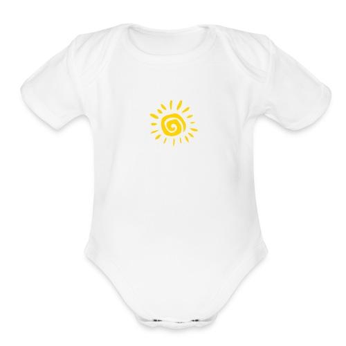 White Sun Onsie - Organic Short Sleeve Baby Bodysuit