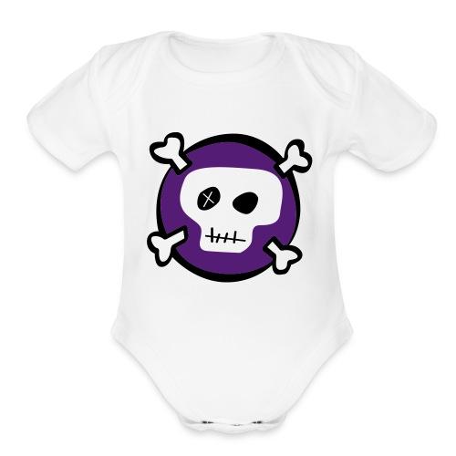 White Skull & Bones Onsie - Organic Short Sleeve Baby Bodysuit