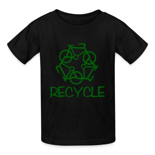 Large Recycle Bicycle - Kids' T-Shirt