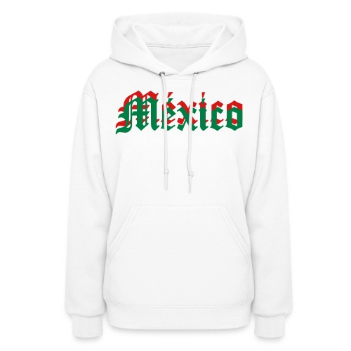 Mexico Hoodie~ GRN/WHT/RED - Women's Hoodie