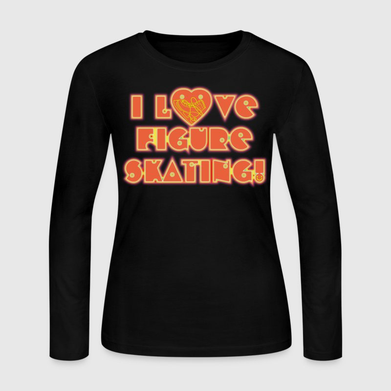 FIGURE_SKATING - Women's Long Sleeve Jersey T-Shirt