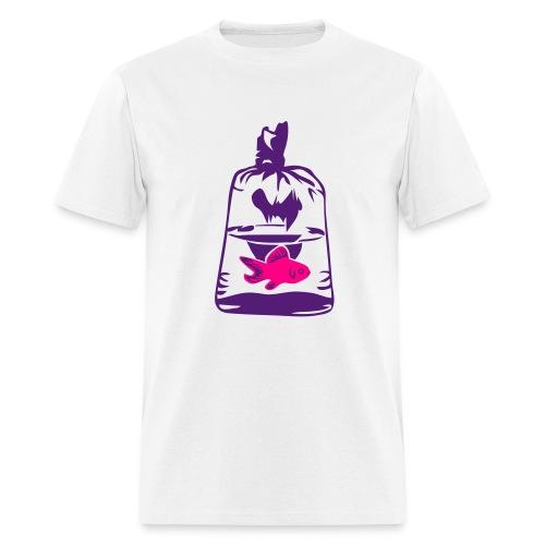 fish in a bag - Men's T-Shirt