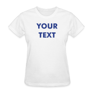 T-Shirts ~ Women's T-Shirt ~ WOMENS COTTON TEE  - Available in 4 Colors