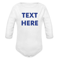 Baby Bodysuits ~ Baby Long Sleeve One Piece ~ CUSTOM ONE SIZE - Babies - Available in 3 Colors