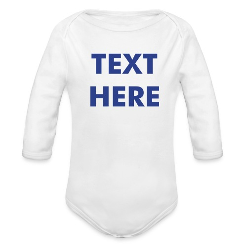 CUSTOM ONE SIZE - Babies - Available in 3 Colors - Organic Long Sleeve Baby Bodysuit